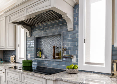 blue tile kitchen summer shade