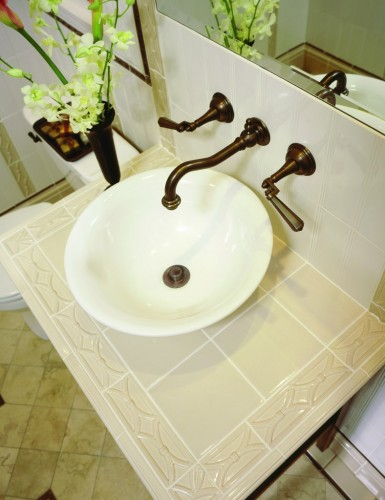 bathroom counter tile
